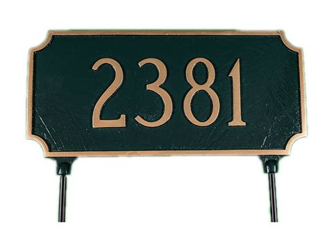 House Number Sign by Personalized 2 Sided House Number Sign