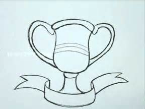 Draw A How To Draw A Trophy Youtube