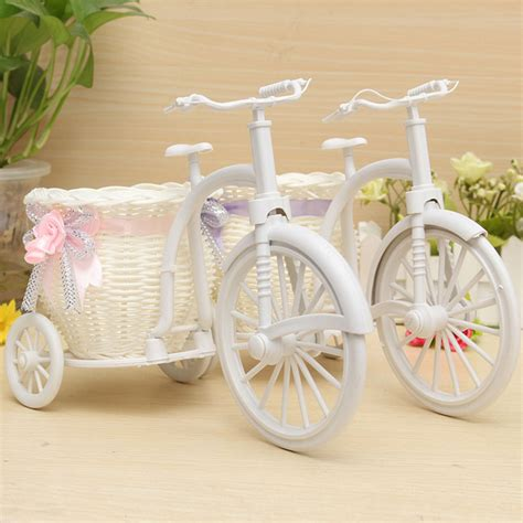 buy large rattan tricycle bike flower basket vase storage