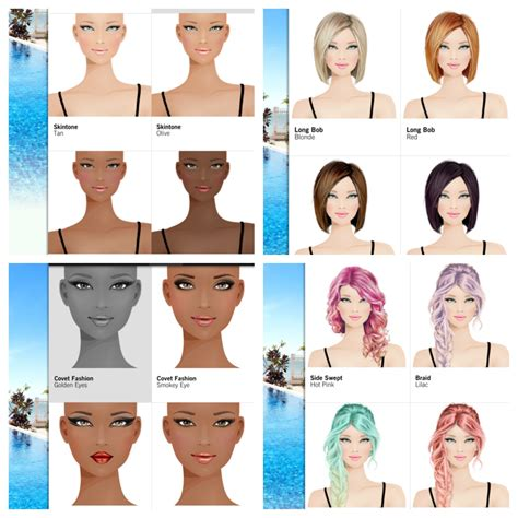 how do you unlock hairstyles on covet fashion appness covet fashion passing on dopeness