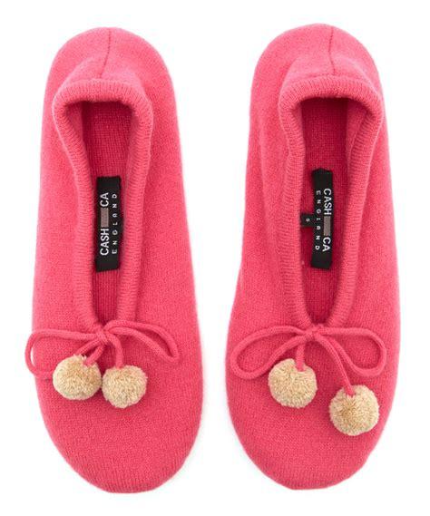 pom pom slippers ca pink tie pom pom slippers in pink lyst