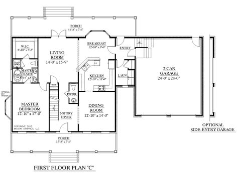 3bedroom Floor Plan by One Story House Plans Two Master And With Bedrooms