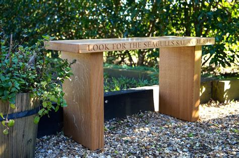 engraved wooden benches outdoor personalised wooden gifts make me something special