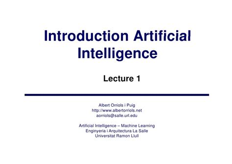 introduction to artificial intelligence undergraduate topics in computer science books lecture1 ai1 introduction to artificial intelligence