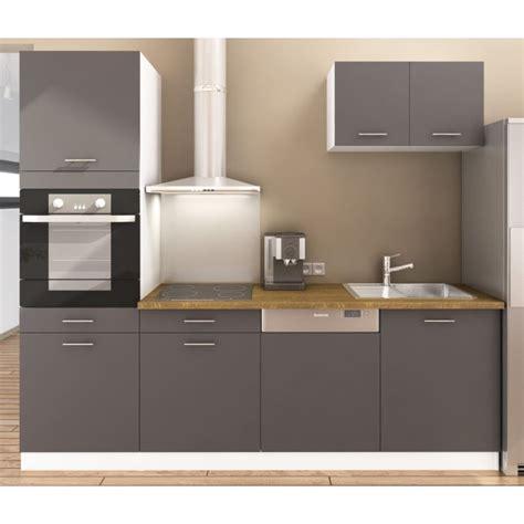 d馗o cuisine et gris metro cusine compl 232 te gris mat 240cm achat vente