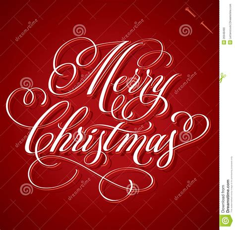 merry christmas hand lettering vector stock vector image