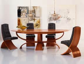 Modern Dining Table And Chairs Brighton Wood Oval Dining Table