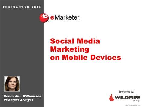 mobile si鑒e social emarketer webinar social media marketing on mobile devices