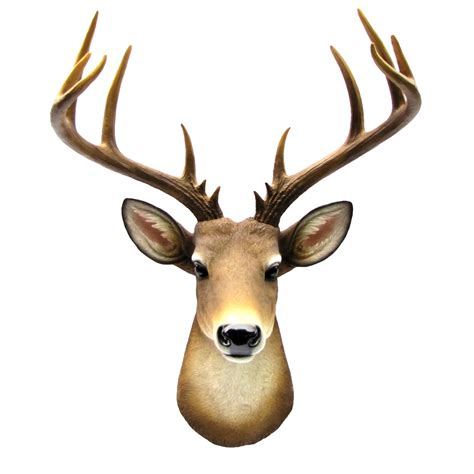 Stags Head Home Decor by Wall Mount Mule Deer Shoulder Bust Fake Taxidermy Buck