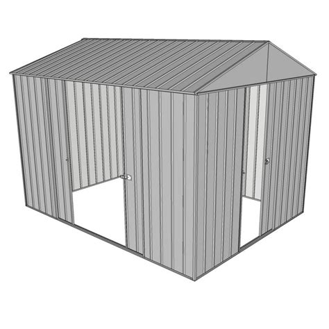 garden shed gable xm  sliding door  sliding zinc