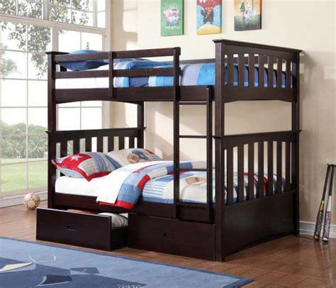 espresso bunk beds espresso bunk bed w 051 kids bedroom