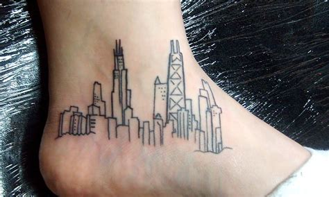 chicago skyline tattoo designs skyline designs ideas and meaning tattoos for you