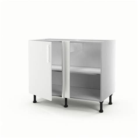 am駭agement meuble d angle cuisine meuble de cuisine bas d angle blanc 1 porte d 233 lice h 70 x