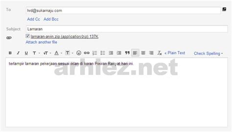 contoh surat lamaran kerja via email terbaru 2014 the knownledge