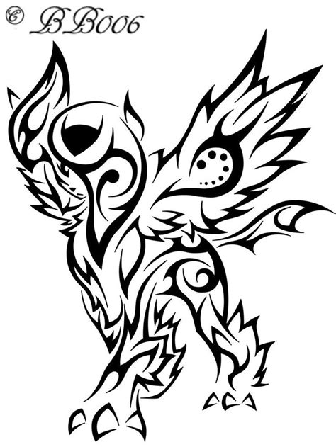 Tribal Mega Absol By Blackbutterfly006 On Deviantart Tribal Barb Wire Designs