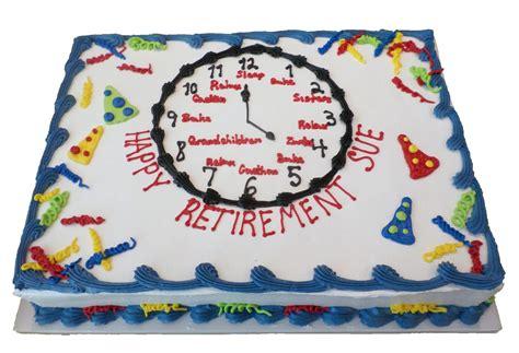 retirement cake decorations retirement cake 3 aggie s bakery cake shop