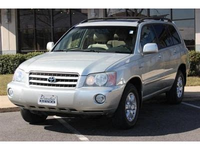 automobile air conditioning service 2003 toyota highlander lane departure warning sell used 2003 toyota highlander 4dr v6 tachometer cd player air conditioning in columbia