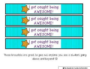 Classroom Management Student Brag Bracelets For Positive Reinforcement 55 Brag Bracelets Template