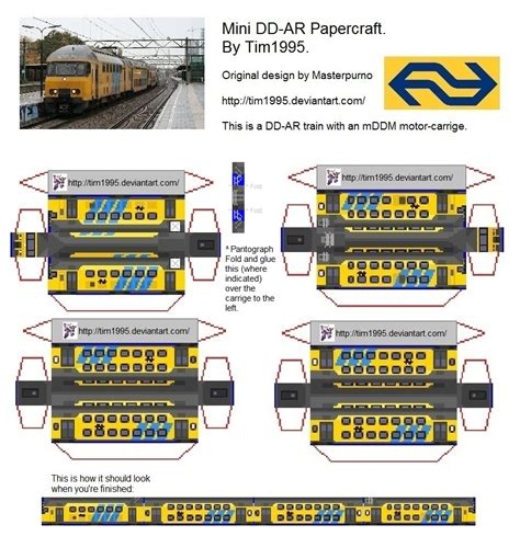 Papercraft Trains - mini dd ar papercraft by tim1995 on deviantart