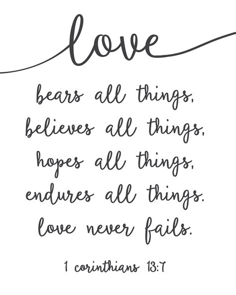 Love Never Fails - Free Printable! - Sincerely, Sara D.