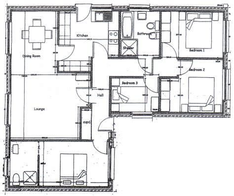 detached garage floor plans two bedroom bungalow house plans