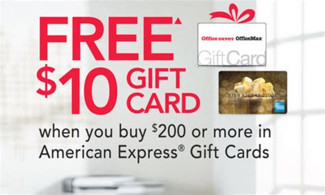 Office Depot Gift Card Rebate - amex gift card rebate get 10 gc with 200 purchase at office depot max info how