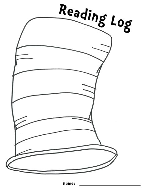 dr seuss hat template obseussed printables saley