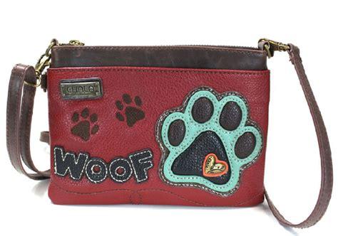 purse puppies charming chala puppy paw print woof mini crossbody bag handbag purse dragonfly
