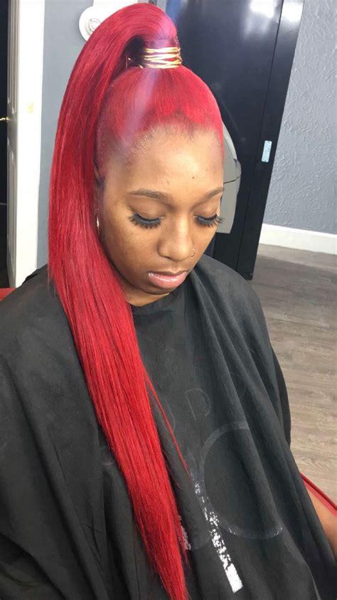 genie ponytail redhair weave genieponytail