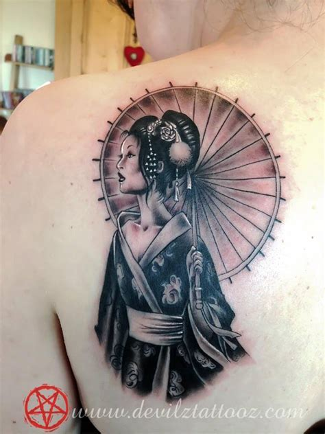 tattoo art work by tattoo artist geisha tattoo japanese