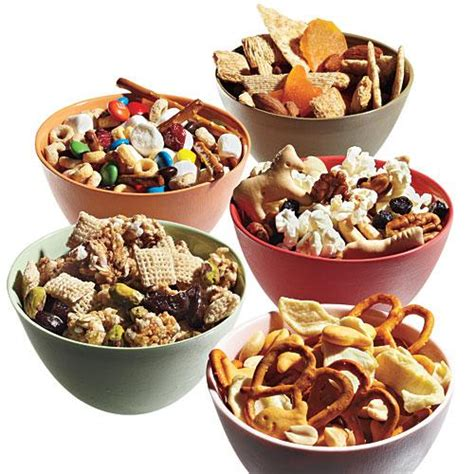 snacks for 10 snack mix recipes cooking light