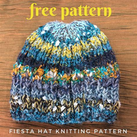 free hats knitting patterns knittinghelpcom fiesta hat free knitting pattern blog nobleknits