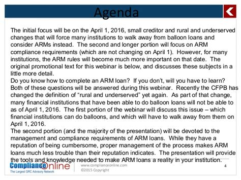 Csu Northridge Mba Requirements by Complianceonline Ppt Format Adjustable Rate Mortgage Arm