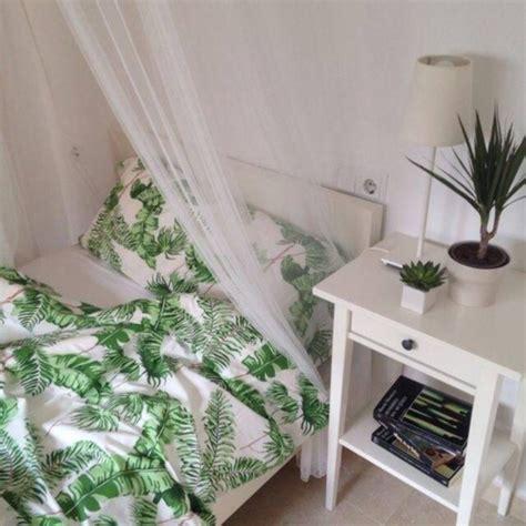 White Comforter With Green Leaves by Home Accessory Bedding Bedding Bedroom Duvet Duvet