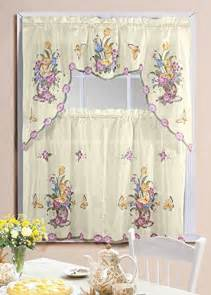 Butterfly Kitchen Curtains Kitchen Curtain Set Butterfly Jet