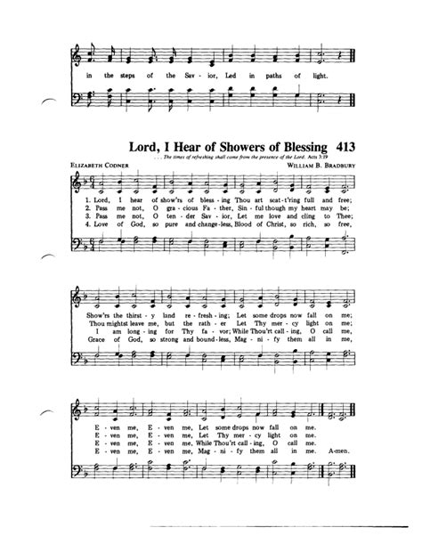 Showers Of Blessing Chords by Even Me Hymnary Org