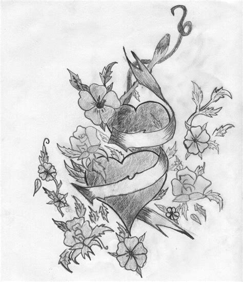 imagenes de corazones y rosas para dibujar dibujos a lapiz de corazones con alas imagui