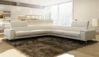 Italian White Leather Sofa Divani Casa Cobana Modern White Italian Leather Sectional Sofa