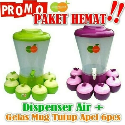 Golden Sunkis Dispenser Set Gelas Apel dispenser air golden sunkist evolution shop
