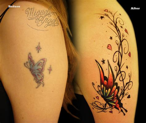 cover up heart tattoo designs butterfly and pattern cover up miguel