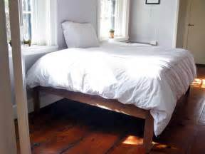 Bed Frame Ideas To Build Bloombety Diy Bed Frame Ideas With White Bed Sheet How