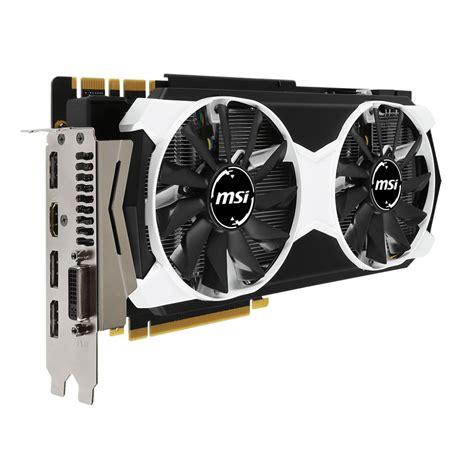 Msi Geforce Gtx 980 4096mb Ddr5 4gd5t Oc Armor 2x msi geforce gtx 980 ti 6gd5t oc carte graphique msi sur