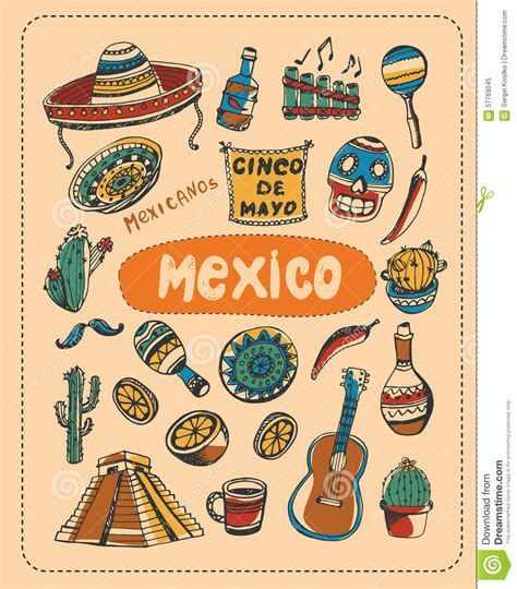 doodle 4 mexico doodle about mexico stock vector image 57769045