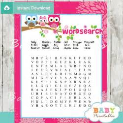 Printable Raffle Tickets Pink Owl Family Baby Shower Games Bundle D120 Baby