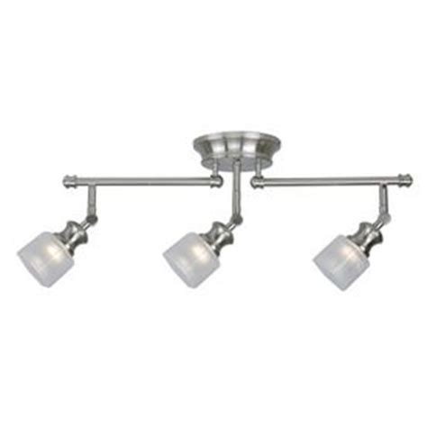 Kitchen Track Lighting Kits Allen Roth 3 Light Brushed Nickel Fixed Track Light Kit Ec1481bn Pictures Of The Shape And