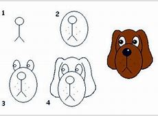 How to Draw Dogs - 50 Best Dog Drawing Tutorials Easy Dog Face Drawing