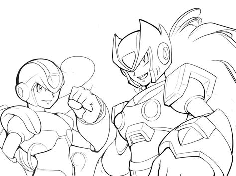 Mega X Sketches by Coloring Pages Megaman Coloring Home