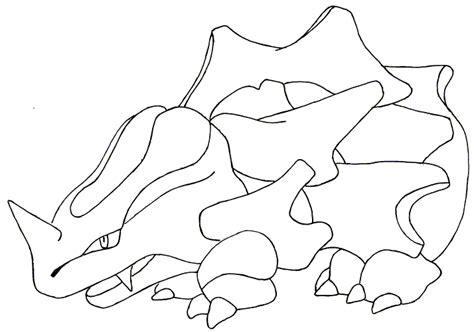 pokemon coloring pages rhyhorn rhyhorn