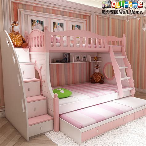 girls bunk bed girls princess bunk beds latitudebrowser