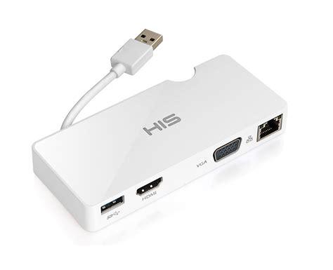 Usb To Vga Port his multi view usb portable station gigabit